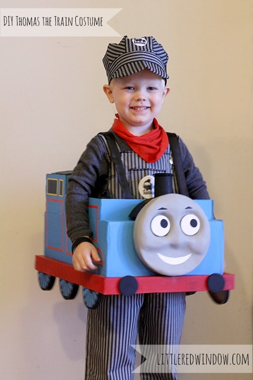 DIY Thomas the Train Inspired Halloween Costume – Little Red Window - Halloween Costumes: The 15 Cutest Ideas for Kids featured on Kenarry.com