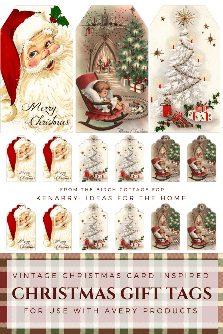 Download free printable vintage christmas gift tags for holiday vintage christmas gift tags from the birch cottage negle Choice Image