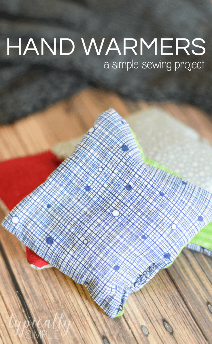 These DIY rice hand warmers are a great way to use up some fabric scraps! Plus it's the perfect beginner's sewing project for kids or adults!