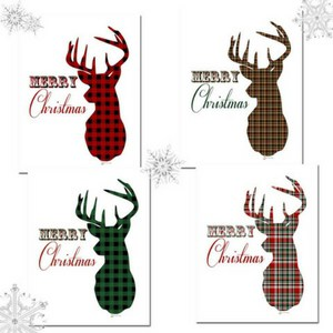 Download your free plaid deer Christmas prints from The Birch Cottage