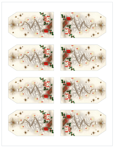 Vintage Christmas Gift Tags from The Birch Cottage - Avery 22802
