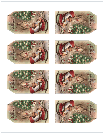 vintage christmas gift tags from the birch cottage avery 22802 - Vintage Christmas Gifts