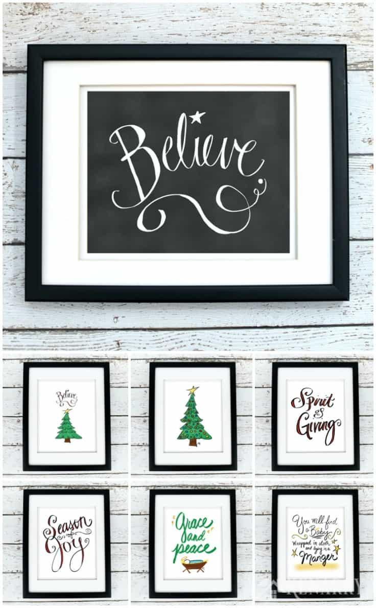 Christmas Wall Decor Printables : Christmas printables festive holiday wall art ideas