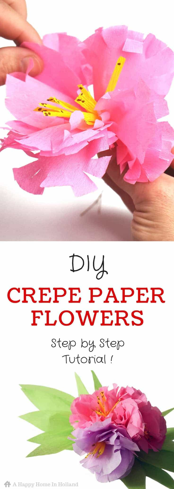 Exotic crepe paper flowers learn how to make a beautiful flower spray crepe paper flowers tutorial learn how to make pretty exotic flower sprays using just colored mightylinksfo
