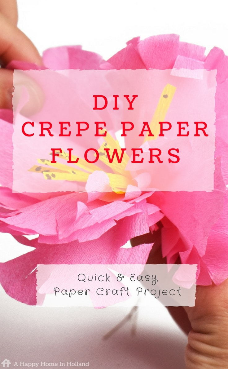 Crepe Paper Flower Tutorial - Learn how to make pretty exotic flower sprays using just colored crepe-paper and florists wire