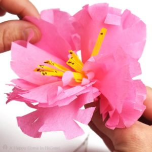 Exotic Crepe Paper Flowers Spray Tutorial