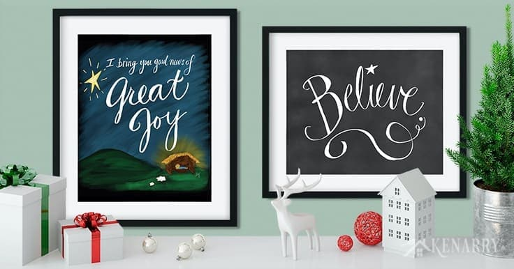 With great job, we announce the new Christmas printables collection from Kenarry: Ideas for the Home so you can easily update your home decor on a budget! It's is available as digital printable Christmas art on Etsy, perfect for the holiday season.