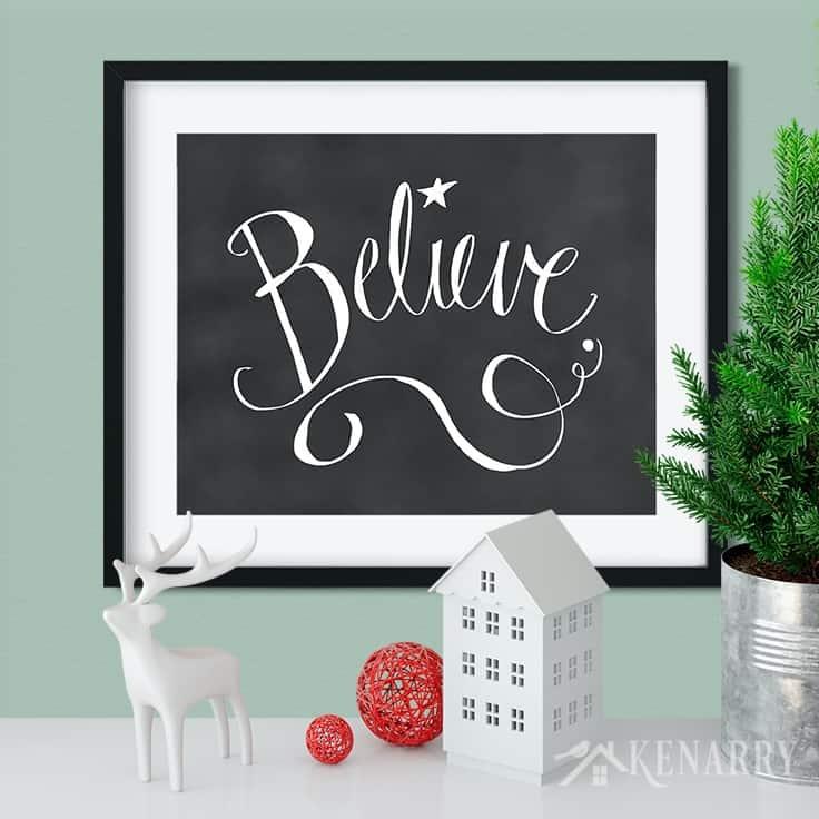 Christmas Printables: 21 Festive Holiday Wall Art Ideas