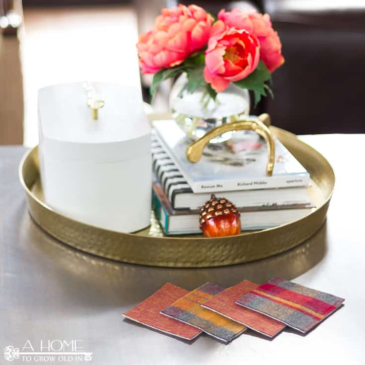 Flannel Coasters: An Easy No-Sew Holiday Project