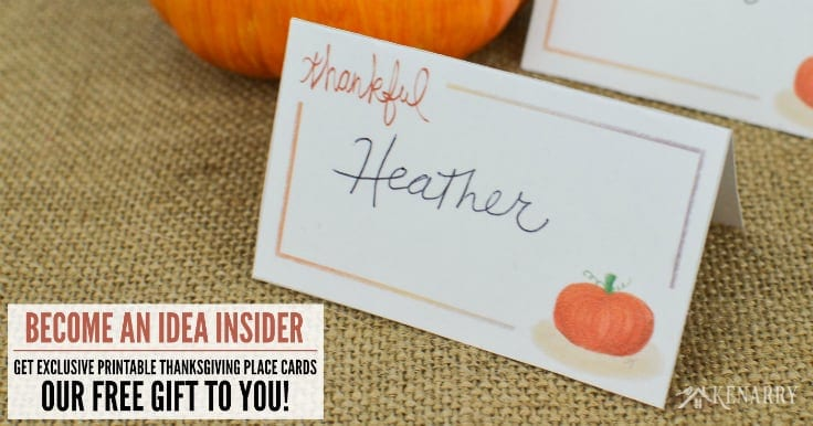 These free printable Thanksgiving place cards can be used to designate where people sit like if you want to keep families together at your holiday dinner or if you intentionally want to mix people up at the table.