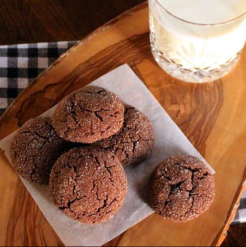 Sparkly Chocolate Fudge Cookies