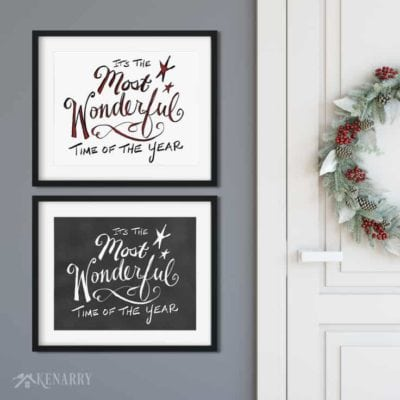 Celebrate the most wonderful time of the year with these Christmas free printables, exclusively for Kenarry Idea Insider.