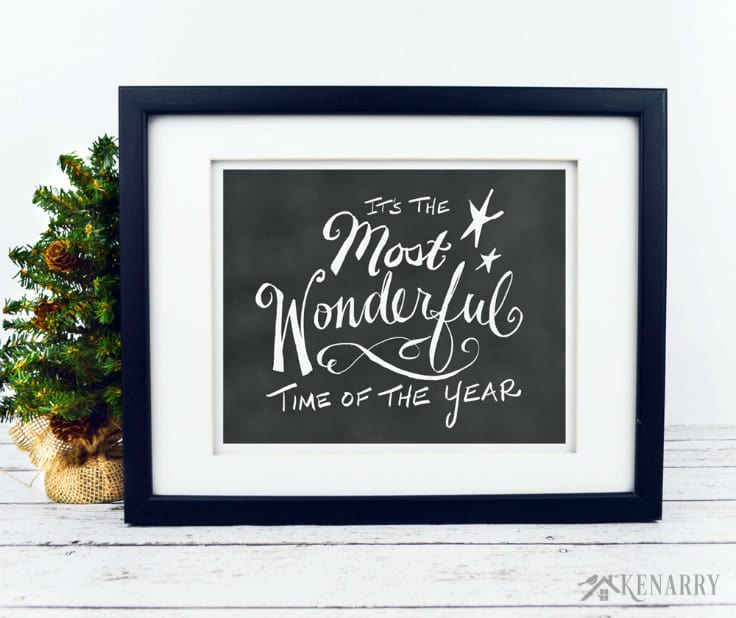 Get this hand lettered chalkboard digital art featuring