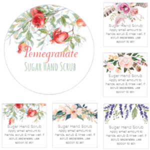 Sugar Hand Scrub Printable Labels from The Birch Cottage