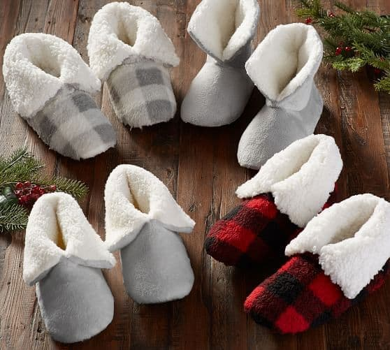 Cozy Sherpa Booties - Pottery Barn
