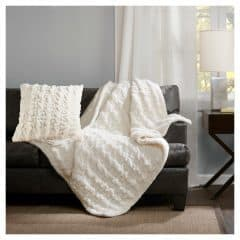Ruched Fur Throw - Target
