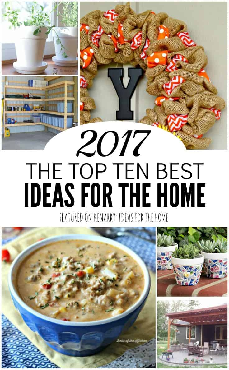 Wow! These were the top 10 recipes, crafts, home decor and DIY projects in 2017. I can't wait to try these popular ideas for the home.