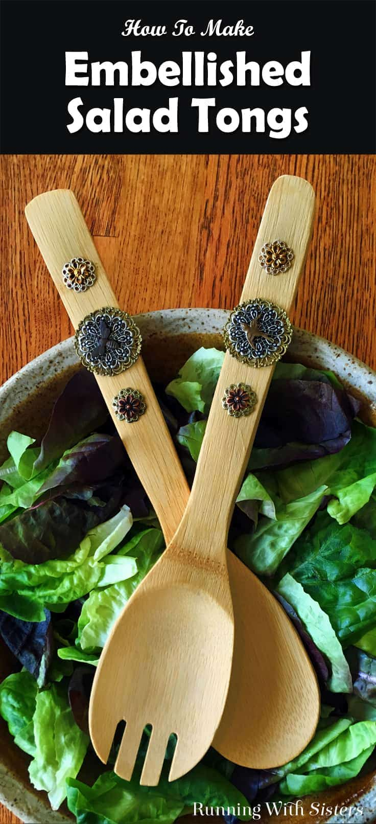 Create Gifty Embellished Salad Tongs using metal filigrees and charms. We'll show you how with this video tutorials and step by step instructions.