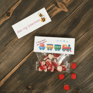 Printable Valentine Gift Bag Toppers