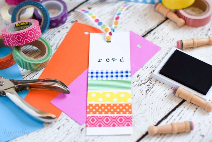 Washi Tape Bookmarks A Simple Craft For Kids Kenarry