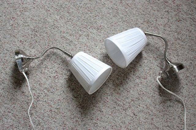 2 brass IKEA lamps
