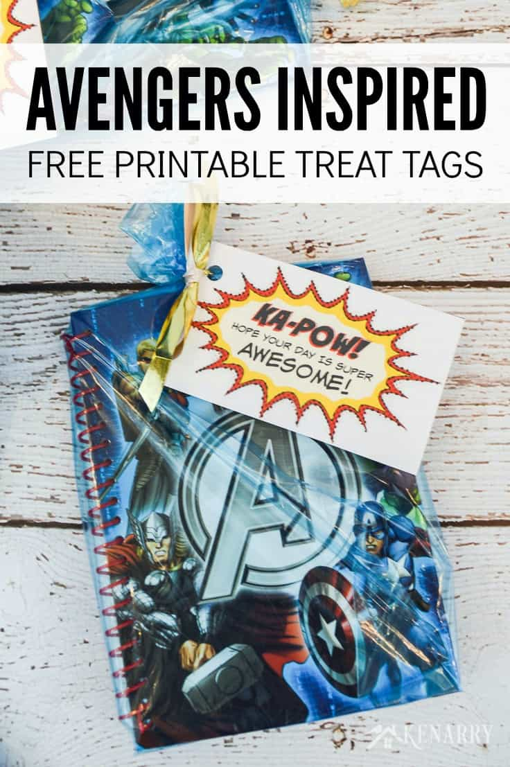 These Marvel inspired free printable super hero tags make these Avenger Party Favors super special for your child's birthday party. They're great for any kid that loves Spiderman, Iron Man, Captain America and The Hulk!