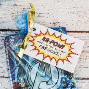 Avengers Party Favors: Free Printable Treat Tags