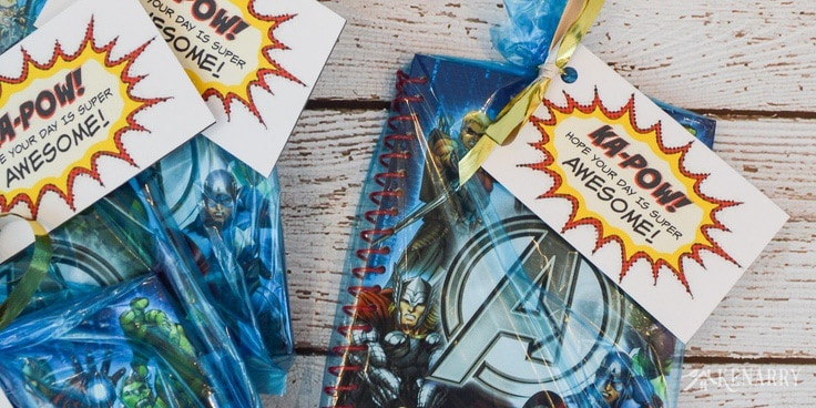 Create easy Avenger Party Favors for your child's birthday. These free printable party tags can be added to any gift bag and are great for a kid that loves Spiderman, Iron Man, Captain America, The Hulk and other Marvel Super Heroes!
