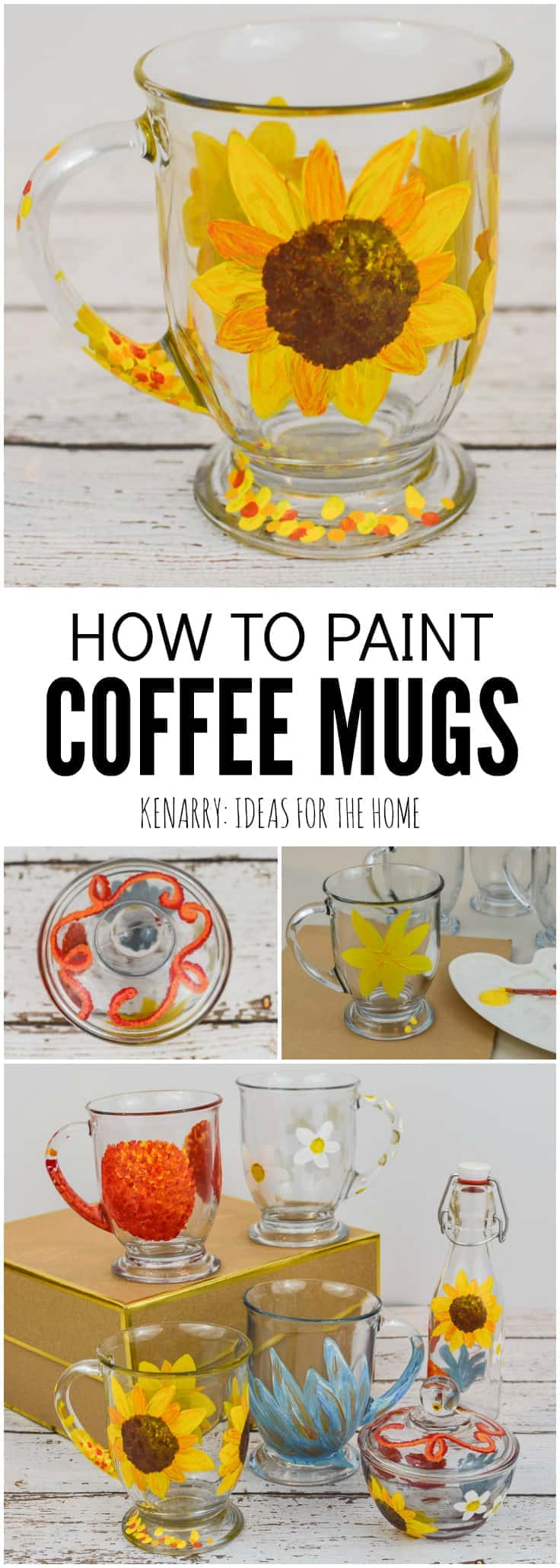 How To Paint Diy Coffee Mugs With Gloss Enamel Kenarry