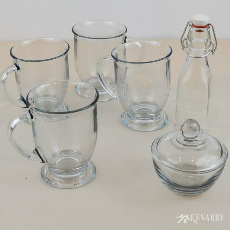 Gather inexpensive clear glass cups, bowls and bottles then decorate them with gloss enamel paints. Learning how to paint DIY coffee mugs allows you to create unique personalized gifts for family and friends.