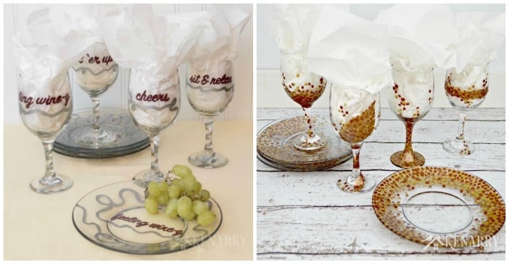How to Paint Wine Glasses - Kenarry.com