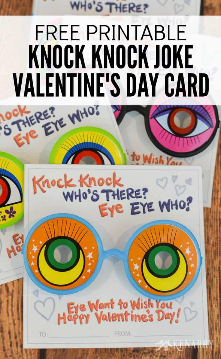 photograph relating to Printable Googly Eyes named Knock Knock Valentines: Cost-free Printable Playing cards for Small children