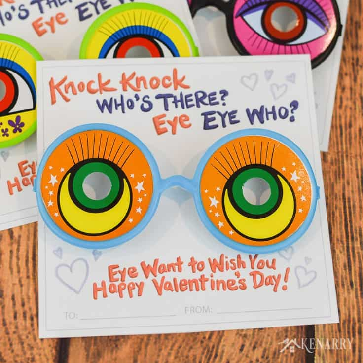 graphic regarding Free Printable Eyes known as Knock Knock Valentines: Free of charge Printable Playing cards for Little ones