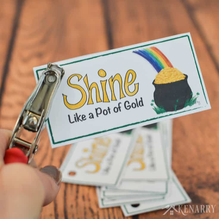 Use these free printable treat tags for your St. Patrick's Day party favors. With a pot of gold and a rainbow they're colorful and fun for both kids and adults.