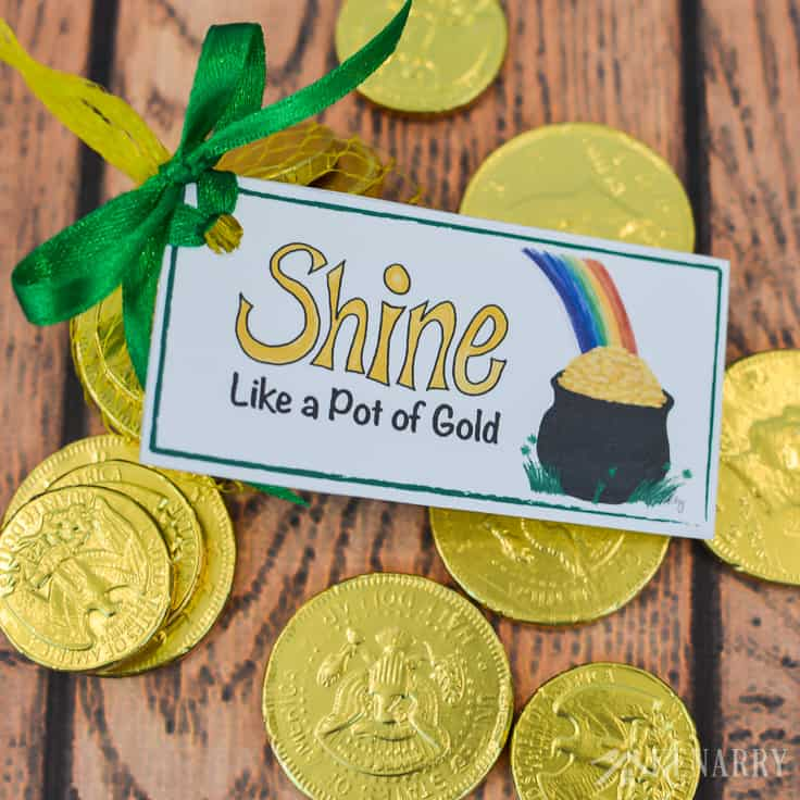 St. Patrick's Day Party Favors: Free Printable Treat Tag