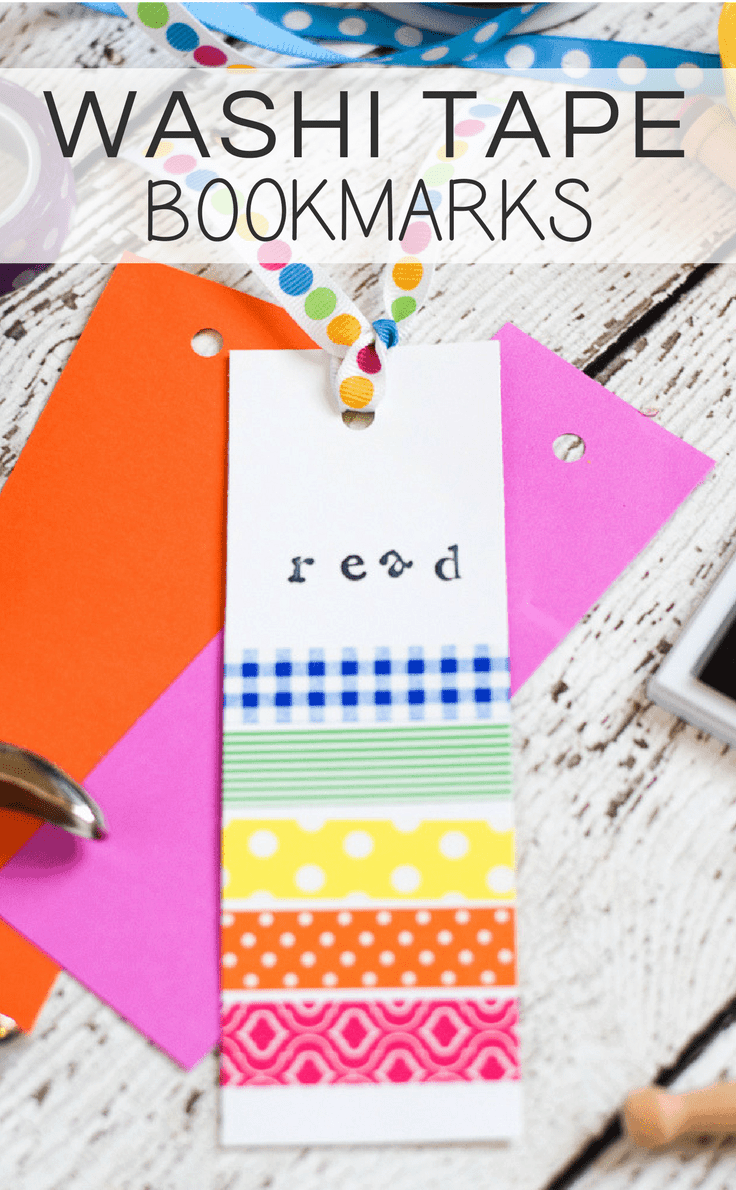 These washi tape bookmarks are a fun craft project for both the kids and adults! With only a few basic craft supplies, it's so easy to whip up these colorful bookmarks!