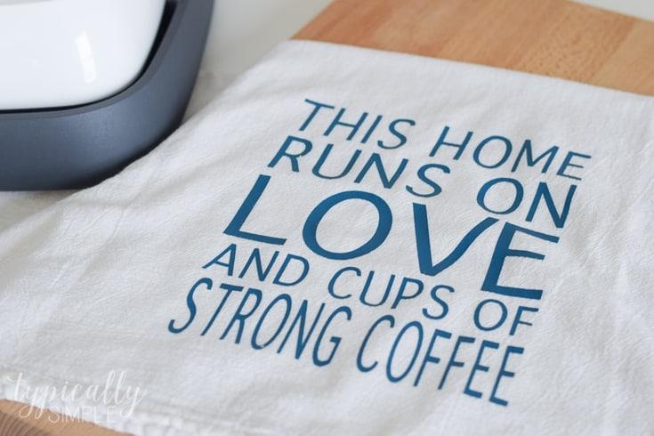 Personalized Flour Sack Towel Htv Project Kenarry