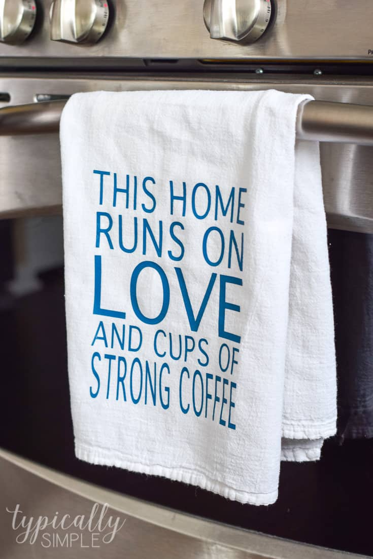 Personalized Flour Sack Towel: HTV Project | Kenarry