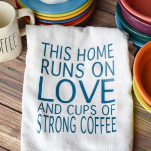 Personalized Flour Sack Towel: HTV Project