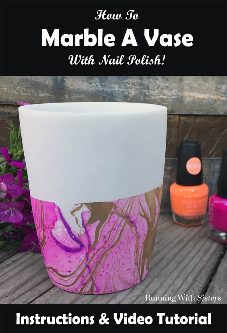 Learn to marble a vase using nail