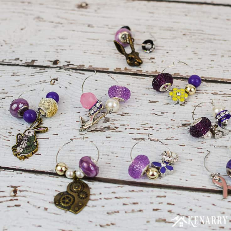 Easter wine charms easy craft idea for diy gift kenarry learn how to make easter wine charms as a diy gift for friends and neighbors negle Choice Image