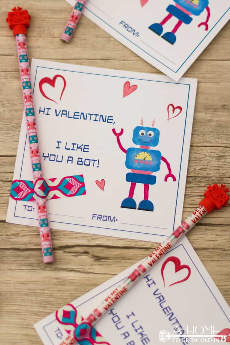 photograph about Robot Printable titled Robotic Valentine Playing cards: Cost-free Printable Playing cards for Children