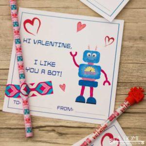 Robot Valentine Cards: Free Printable Cards for Kids