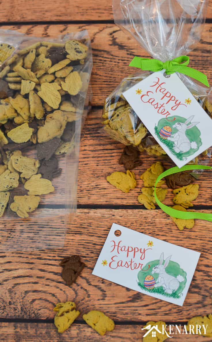 Need an easy treat idea for your child's Easter basket? Use these Happy Easter free printable tags to dress up their favorite snack, a small toy or a special gift.