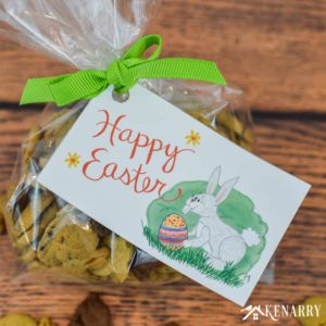 Happy Easter Free Printable Tags: Easy Treat Idea