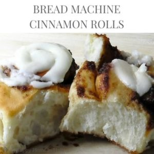 bread machine cinnamon rolls recipe