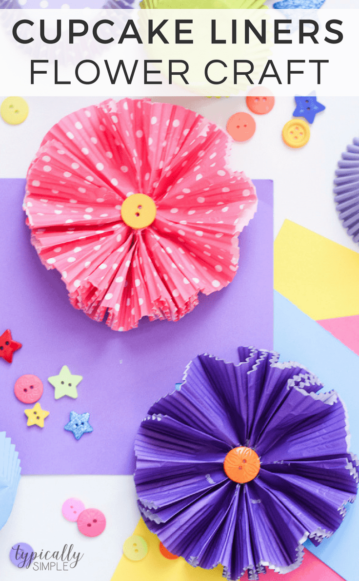 Cupcake Liners Flower Craft A Fun And Easy Idea Kenarry