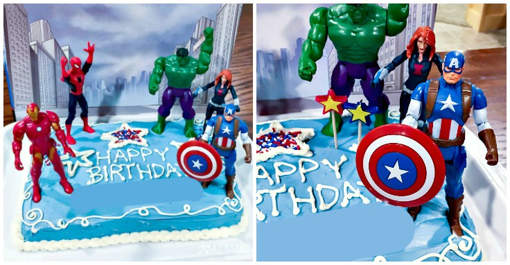Peachy Avengers Birthday Cake Idea And Party Supplies Kenarry Personalised Birthday Cards Bromeletsinfo