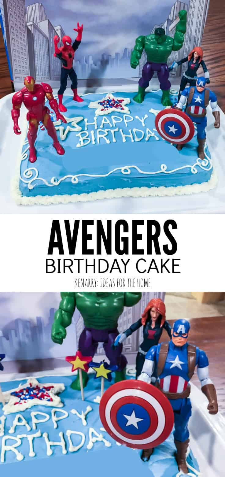 This Simple Avengers Birthday Cake Idea Is