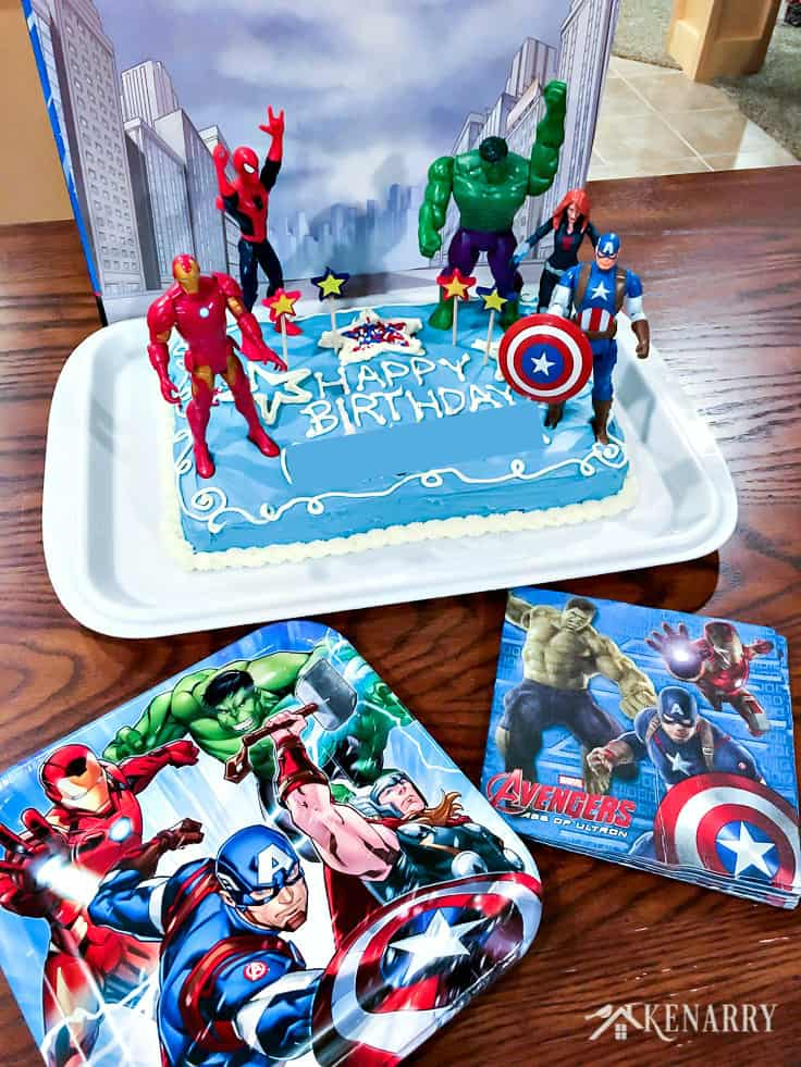 Amazing Avengers Birthday Cake Idea And Party Supplies Kenarry Funny Birthday Cards Online Alyptdamsfinfo